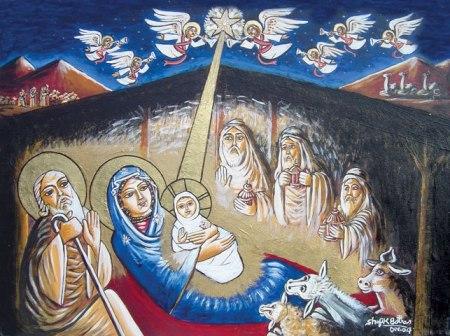 السلام وأيقونة الميلاد وطنى 13